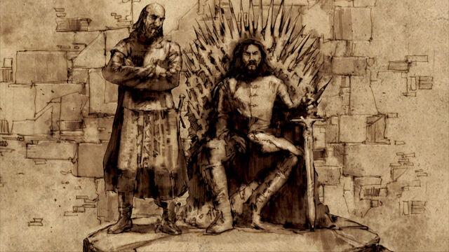 Archivo:Rey Robert y Jon Arryn HBO.jpg