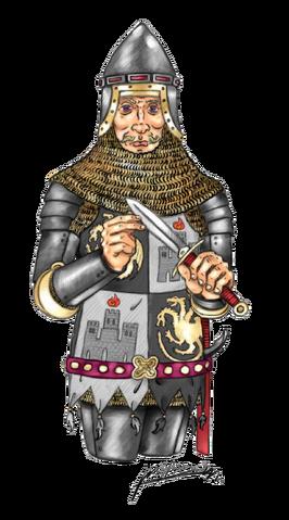 Archivo:Aegon II Targaryen by Oznerol-1516©.png