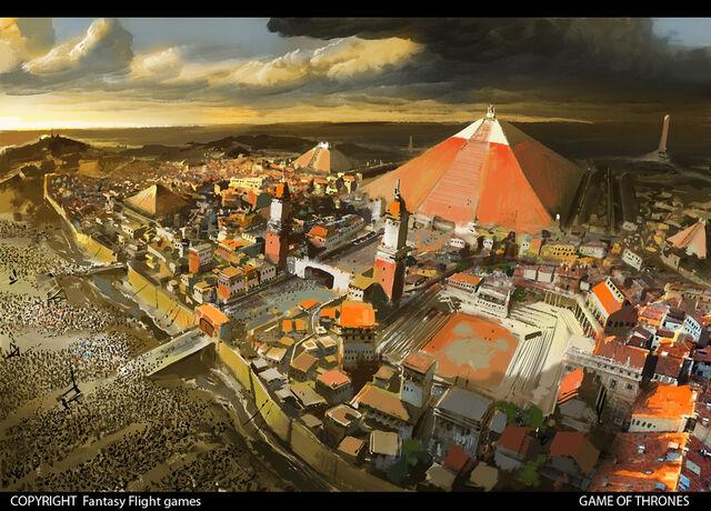 Archivo:A City Besieged by Ignacio Bazán Lazcano, Fantasy Flight Games©.jpg
