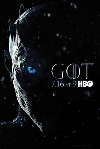 Archivo:Afiche promocional Séptima Temporada GoT HBO.jpg
