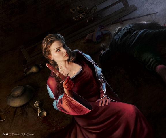 Archivo:Catelyn Stark by Tiziano Baracchi, Fantasy Flight Games©.jpg