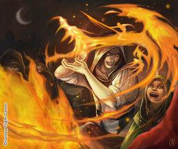 Campfire Mime by Caroline Eade, Fantasy Flight Games©
