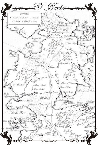 Mapa El Norte Danza de Dragones