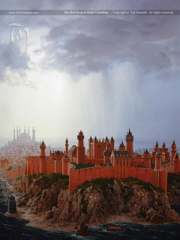 Archivo:The Red Keep at King's Landing by Ted Nasmith©.jpg