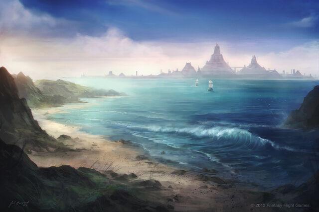 Archivo:Slavers Bay by Juan Carlos Barquet, Fantasy Flight Games©.jpg