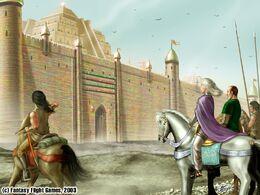 Daenerys ante las murallas de Meereen by Amoka©