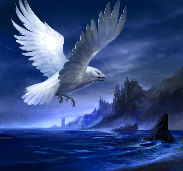 Archivo:White Raven by by Sandara, Fantasy Flight Games©.jpg