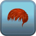 MESSY FRINGED GELLED-DOWN (RED)