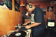 DJ Screw on the turntables