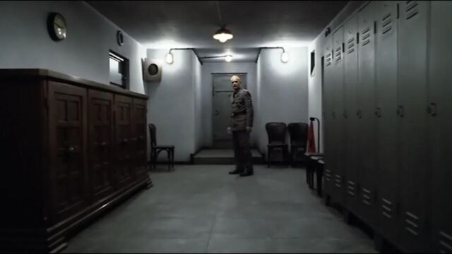 File:Schenck in corridor witnessing Blondi's killing.jpg