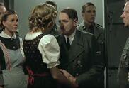 Eva B Holding Hitler's Hand