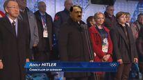 Hitler announcing