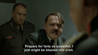 Hitler rants about only having baked beans to eat