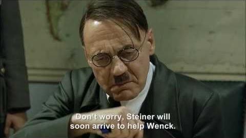Hitler's plan to defeat Gaddafi has failed and Gaddafi celebrates