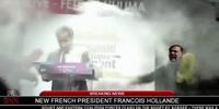 Hitler throws flour at President Hollande
