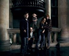 07 Dobby rescuing Harry Potter, Griphook, Hermione and Ron