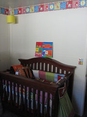 Nursery wall border