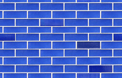 Blue ceramic wall seamless tile