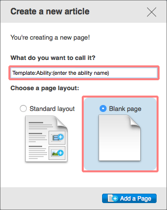 Create a new article ability