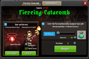 Event Piercing Catacombs window
