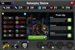 Rampaging Shadow 1-1* resistances