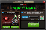 Event Temple of Blades window