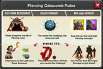 Event Piercing Catacombs rules