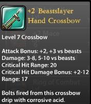 2 Beastslayer Hand Crossbow