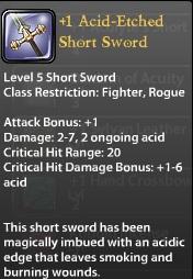1 Acid-Etched Shortsword