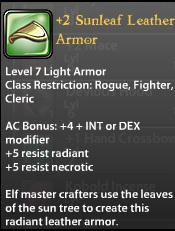 2 Sunleaf Leather Armor