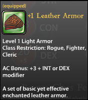 1 Leather Armor