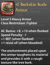 1 Barkskin Scale Armor