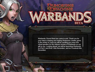 Closed Beta Screen