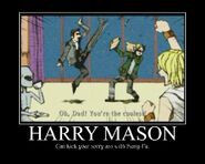 Harry Mason Motivation poster by danetenshijanai