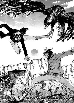 Crow as mythical beast