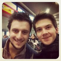 Marcel and Patrick on the way to Munich