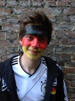 Patrick before the play Germany against the Netherlands EM 2012