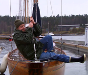 Pelle i båt