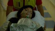 Vanessa fraktes inn på sykehuset