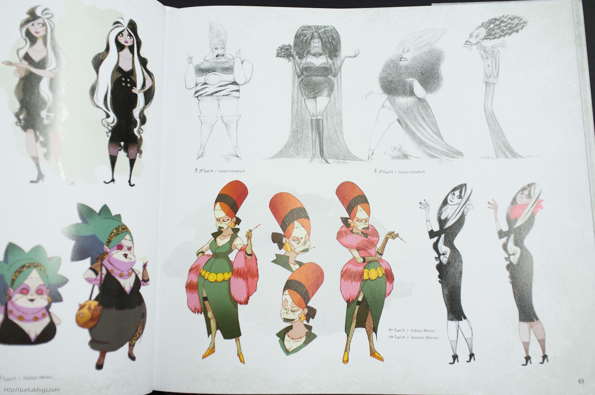 Pixar Character Design Book : Image eunice development g hotel transylvania wiki