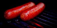 Spicy Gorgonzola Black Bean Sausage over Seared Skillet Polenta