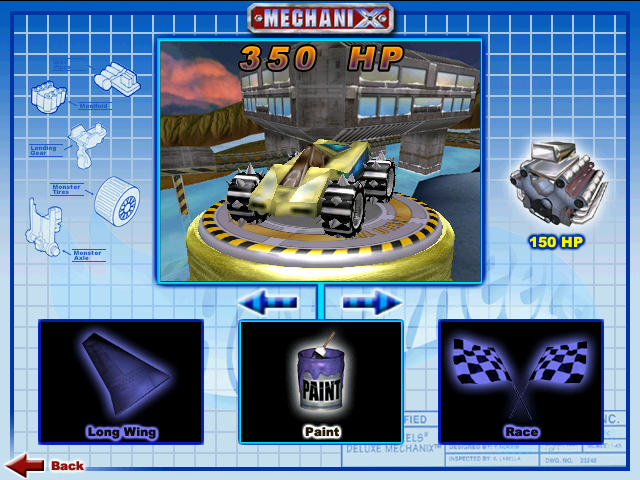 File:Shadow Jet II was Playable in Hot Wheels Mechanix PC 2001 Original Game Colors.PNG