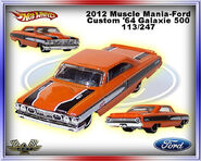2012 Muscle Mania-Ford Custom 64 Galaxie 500 113-247
