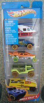 Hot Wheels 2012 5 pack jungle Rally