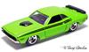 71 dodge challenger lime green-0