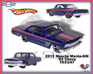 2012 Muscle Mania-GM 62 Chevy 103-247