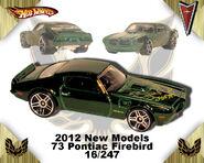 2012 New Models 73 Pontiac Firebird