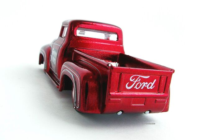File:Custom '56 Ford Truck Red Rear View.JPG
