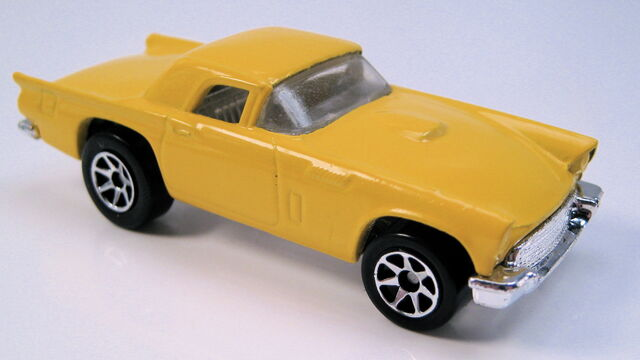 File:57 t-bird 7sp yellow ford 5-pack.JPG