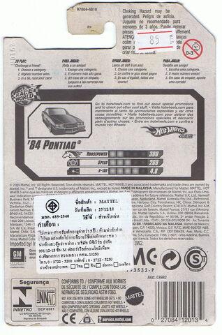 File:'84 Pontiac 2010 Race World Movie Stunts card back side speed 269.jpg